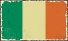 Irish grunge flag. vector illustration Stock Illustration