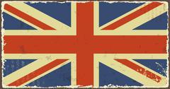 Stock Illustration of british grunge flags. vector illustration