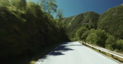 4k, scenic drive, panoramic drive, nordgulvatnet, norway Stock Footage