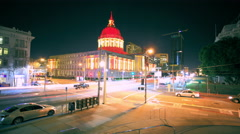 San Francisco City Hall Time-Lapse Stock Footage