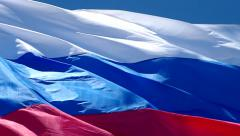 Flag of the Russian Federation Stock Footage