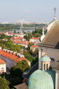 Warsaw Cityscape - stock photo