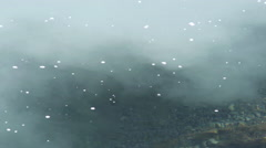 Glacial melt mixes with fresh water, close-up Stock Footage