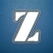 Denim jeans letter z Stock Illustration