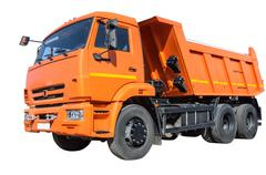 dump truck - stock photo