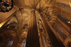 Cathedral de la Santa Creu I Santa Eulalia Stock Photos