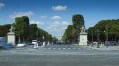 Time lapse of Champs Elysee Stock Footage