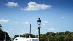 Lantern on Place de la Concorde, Paris - stock footage