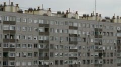 Concrete Block of Flats 4 Stock Footage