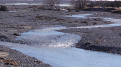 Glacial river Stock Footage