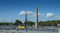 Place de la Concorde, Paris - stock footage