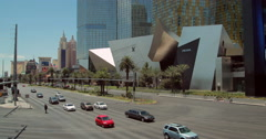Las Vegas strip luxury brand shopping center exterior - stock footage