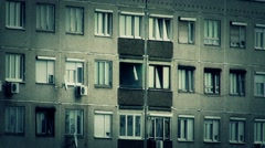 Concrete Block of Flats 15 stylized Stock Footage