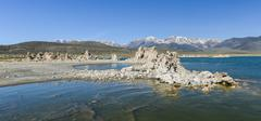 Stock Photo of tufa formation in mono lake, california