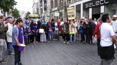 Palestine Protesters Against Israel Stock Footage