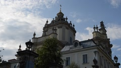 Greco-catholic cathedral of Lviv. Lviv, Ukraine. Stock Footage