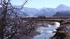 Snow capped mountains Stock Footage