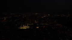 Aerial view of Los Angeles at Night Arkistovideo
