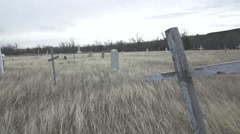 Indian reservation cemetery Stock Footage