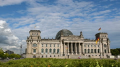 Berlin german bundestag with tv tower in background 11411 Stock Footage