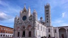 Duomo in siena, italy Stock Footage