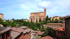 Basilica di san domenico in siena Stock Footage