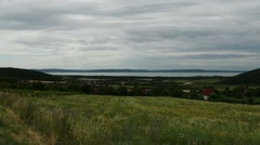 Lake Balaton Hungary View from Northern Part 1 Stock Footage