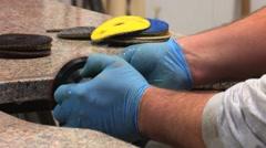 Granite Polishing Stock Footage