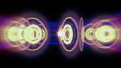 Abstract rings in the style of high-tech 4K Stock Footage