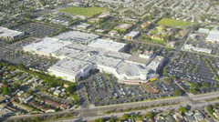 Aerial view of Shopping Mall in California Stock Footage