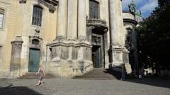 The Catholic temple. Lviv, Ukraine. Stock Footage