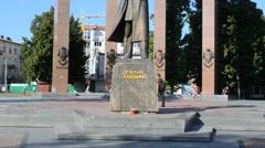Stepan Bandera. Lviv, Ukraine. Stock Footage