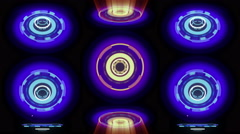 Neon Wheels background 4K Stock Footage