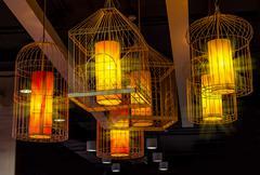 Stock Photo of birdcage hanging lamp