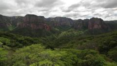 Tropical Rainforest Landscape With Mountain Stock Footage