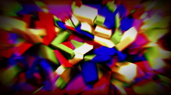 Colorful animated crystals 4K Stock Footage