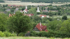 Old European Village in Hungary 3 Stock Footage