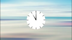 Animated clock counting down 12 Stock Footage