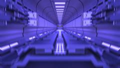 Sci-fi Gate in abstract tunnel 4K Stock Footage