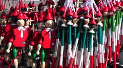 Pinocchio souvenirs florence tuscany italy Stock Footage