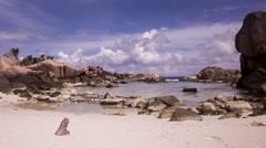 Dream Beach Anse Coco // Seychelles HQ Stock Footage