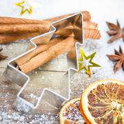 cookie cutter tree - stock photo
