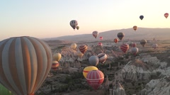 Flying Balloons In Cappadocia 03/13 Stock Footage