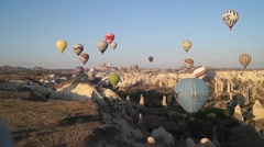 Flying Balloons In Cappadocia 04/13 Stock Footage