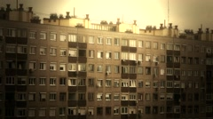 4K Concrete Block of Flats 12 stylized Stock Footage
