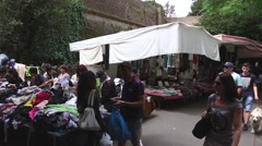 Weekly market in siena, tuscany Stock Footage