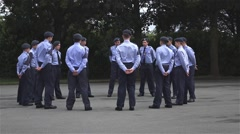 Air Cadet - Formation Stock Footage