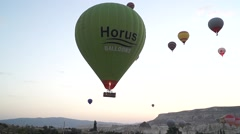 Flying Balloons In Cappadocia 08/13 Stock Footage