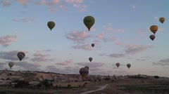 Flying Balloons In Cappadocia 10/13 Stock Footage