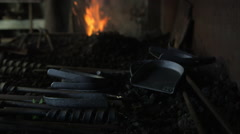 Foundry Metal Work Tools Stock Footage